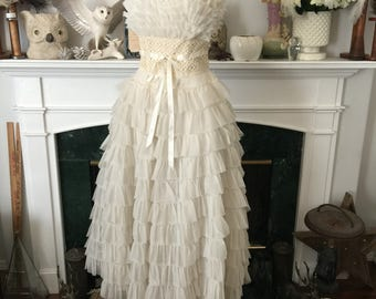 50s Tired Tulle Prom Queen Party Frock