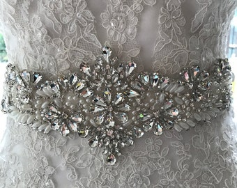 LOW PRICE-Wedding Sash-Weddings-Accessories-Wedding Belt-Bridal Belt-Bridal Sash-cummerbunds-Applique-Rhinestone-Crystal-belt-bride belt