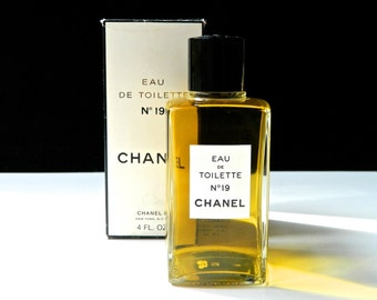Vintage CHANEL Nº 19 Perfume Eau de Cologne 4 oz (120 ml) Full Fresh in Original Box