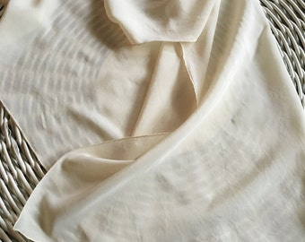 Vintage Silk Scarf, Happiness, Ivory, Large Scarf, Perfect Condition