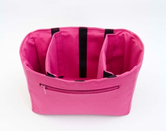 Extra sturdy camera bag insert  organizer, purse  insert ,plain,camera bag,fuchsia, EXPRESS SHIPPING