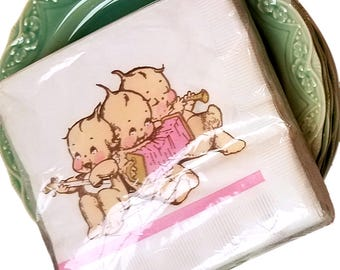Kewpie Party Collection - Unopened 2 Packages of Napkins & 1 Package of Paper Plates