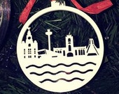 Liverpool Waterfront Bauble - Liverpool Christmas Decoration - Liverpool Bauble - Liverpool Skyline - Christmas Bauble