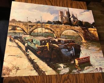 "Fine Art Lithograph Scene from London  11""x14"""