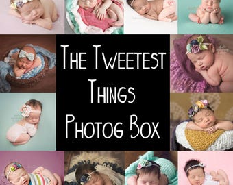 The Tweetest Things Photog Box (girls) - rompers, pants, halos, dainty headbands - 100+ for only 65 (or less)  **NO ADDITIONAL DISCOUNTS**