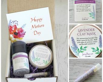 Mothers Day Gift Box - Lavender Facial Spa Gift Box