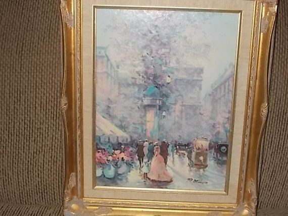 European painting p belloni oil painting signed painting for How much is my painting worth