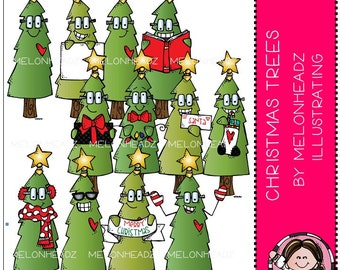 Christmas Tree clip art - COMBO PACK