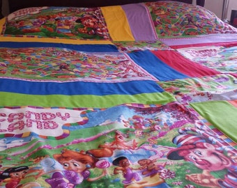 Candyland twin/full size quilt/ children's  candyland  blanket