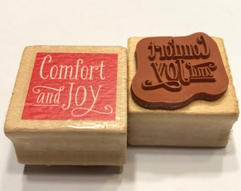 Comfort and Joy rubber stamp, 25 mm (BB4/4)