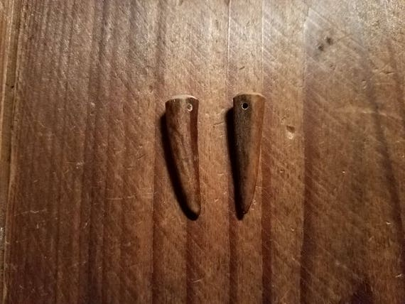 Drilled Deer Shed Antler Tips Earrings Ready 1-1/4 ...