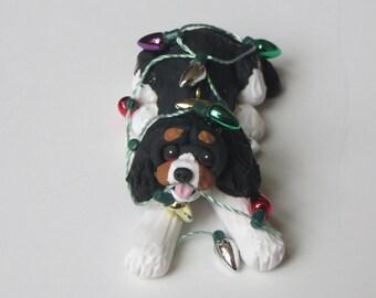 Cavalier King Charles Spaniel Dog Christmas Ornament Polymer Clay