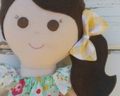 Handmade doll with name customization included
