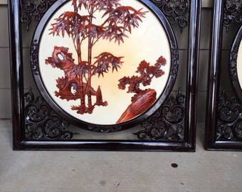 Chinese Lacquer Picture Frames