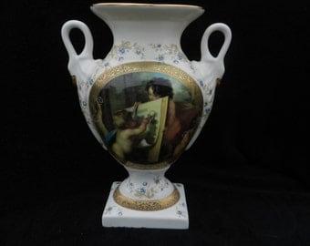 Vase Porcelain: Hand decorated porcelain vase