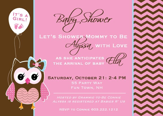 owl baby shower invitation boy owl baby by asyouwishcreationsu, Baby shower