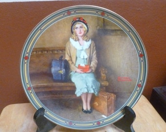 Norman Rockwell plate A Young Girl's Dream 1985