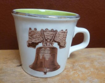 Vintage Taylor International Liberty Bell mug USA