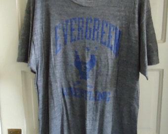 Vintage 80s PAPER THIN TRIBLEND Athletic T Shirt sz M/L