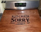 Custom engraved gas stove topper