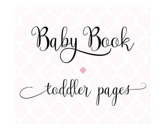 Set of 40 Toddler Pages for Charmbooks Baby Memory Books