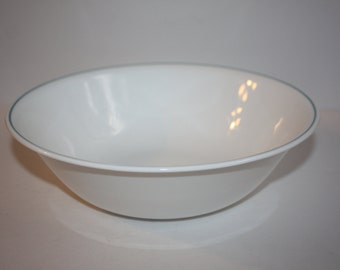 "Vintage Corelle Blue Stripe Serving bowl 10 1/4""/Corelle Large Serving Bowl"