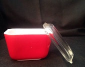 Vintage PYREX Small Refrigerator Dish Cover/Lid Red