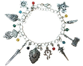 World of Warcraft inspired charm bracelet in gift box