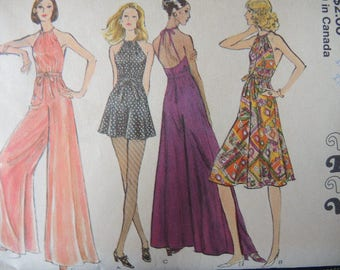 vintage Disco Era Vogue sewing pattern 8182 misses evening jumpsuit size 10