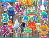 Trolls Theme Boy Colors Birthday Centerpieces Decorations