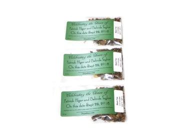 100 Tea Wedding Favors - Tea Wedding Favours - Tea gifts - customized tag - custom wedding favor - tea party gift