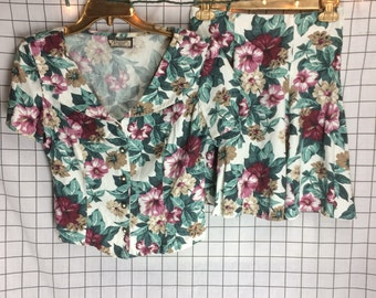 Vintage 90's Clueless Matching Floral Business Set
