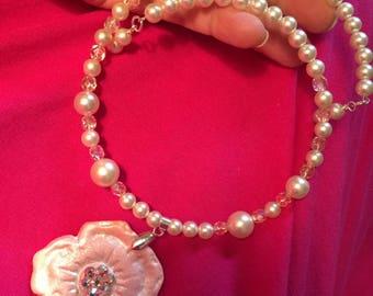 Remembrance Gravestone Flower Necklace