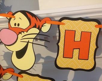 Tigger Winnie the Pooh Bear Disney Happy Birthday Banner