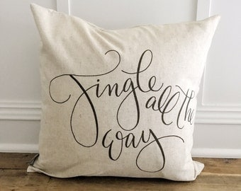 Jingle All the Way Pillow Cover (Black)
