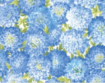 SUMMER BREEZE IV - #33281-11 -  Dahlias Light Blue  - by Sentimental Studios for Moda - Blues - Yellows - Classic