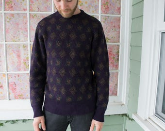 Vintage Men's Hipster Pattern Sweater
