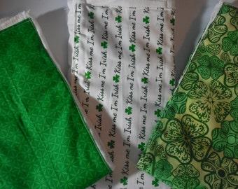 Irish/Celtic Set of Burp Cloths