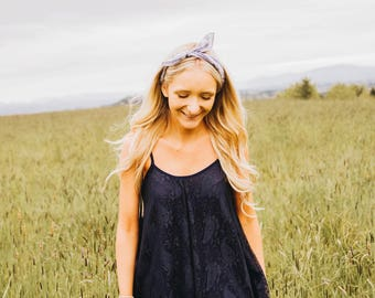 The Lily Dress in Navy