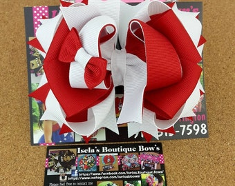 Red boutique Bow /HANDMADE