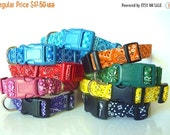 Bandana Dog Collar-Black, Pink, Red, Orange, Yellow, Green, Blue, Turquoise & Purple-NO EXTRA Charge for colored buckles