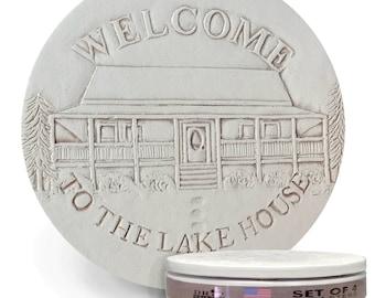 Lake House Drink Coasters, Men's Gifts, Coasters, Lake House, Cabin, Hostess Gifts, Lodge Decor, Home Decor, Tableware, Barware