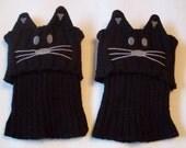 Knit Kitty Cat Boot Cuffs  Beaconhillcollect  We Ship Internationally