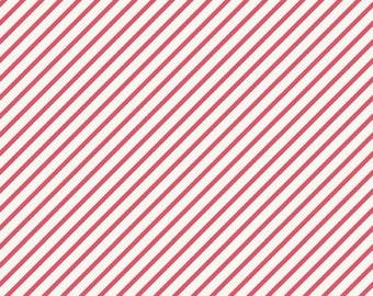 Unforgettable Stripe in Pink My Mind's Eye - 1 Yard Cut
