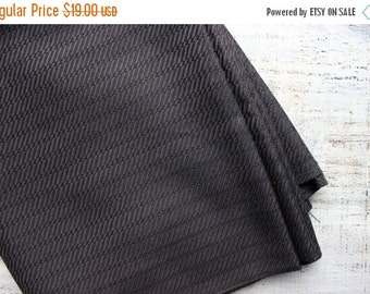 FLASH SALE Vintage fabric 2.65 yards in 1 listing dark grey wide fabric solid color geometric woven pattern