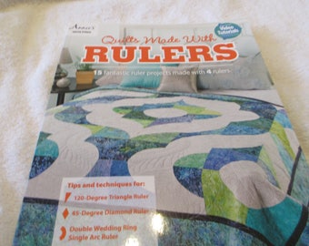 Quilt Pattern Book called Quilts Made With Rulers by Annie's Quilting with 15 quilts