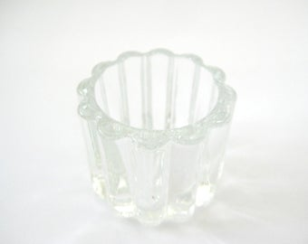 Vintage Toothpick Holder, Clear Glass Toothpick Holder, Glass Toothpick Holder, Ribbed Glass Toothpick Holder, Vintage Table Decor