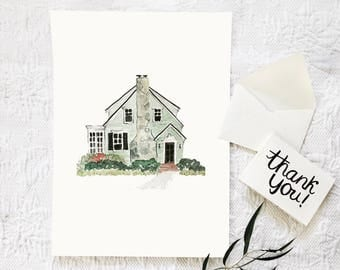House Watercolor, Wedding Gift, New Home Gift, First Home, Housewarming Gift, Home Watercolor, New Home Announcement, House Painting
