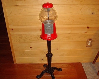 Vintage Carousel Gumball / Candy Dispenser With Cast Stand