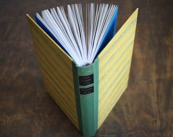"""Upcycled Diary Tartuensis Classic """"Yellow"""" from old book covers"""